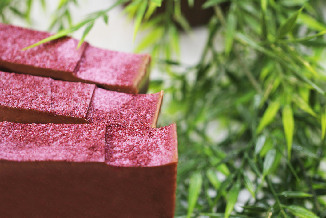 Soap made with red wine