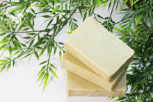 Juniper scented soap made with meadowfoam oil