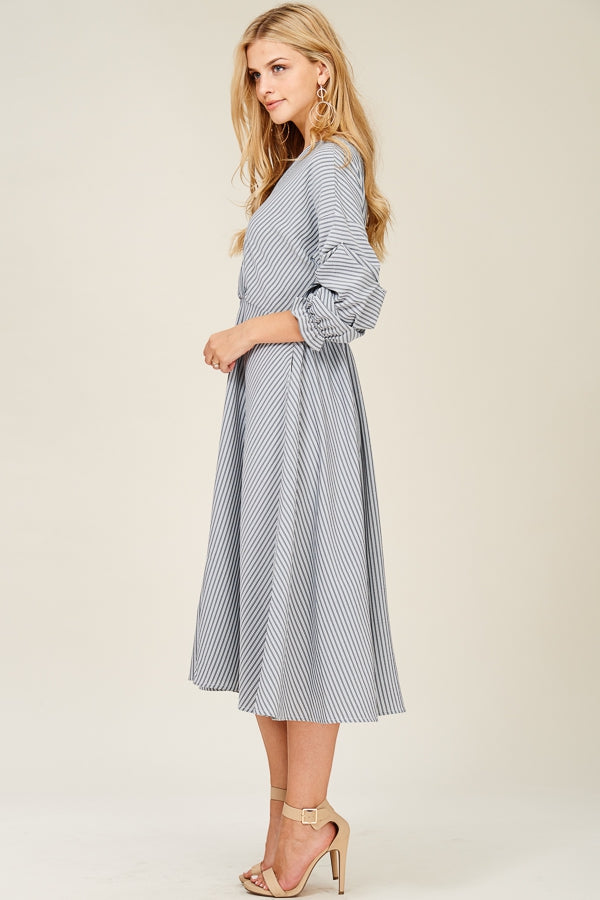 Chic Over-Wrap Dress