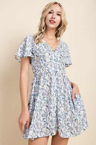 Birdie Blue Flare Dress