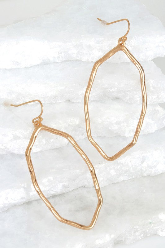 Hammered Hook Earrings