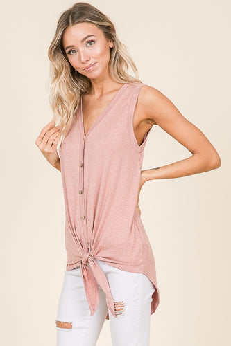 Sleeveless Tunic Tie