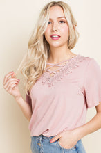 Dusty Pink X-Front Tee
