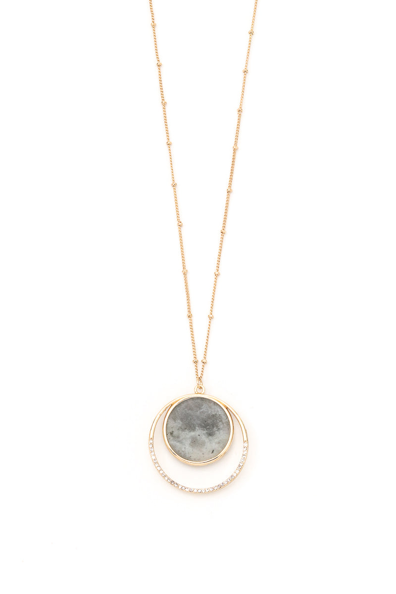 Moon & Hoop Necklace