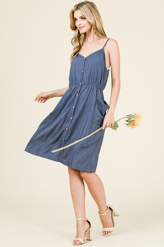 Chambray Sweetheart Dress