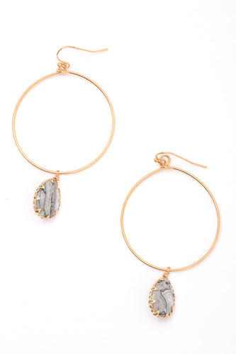 Dainty Druzy Earrings