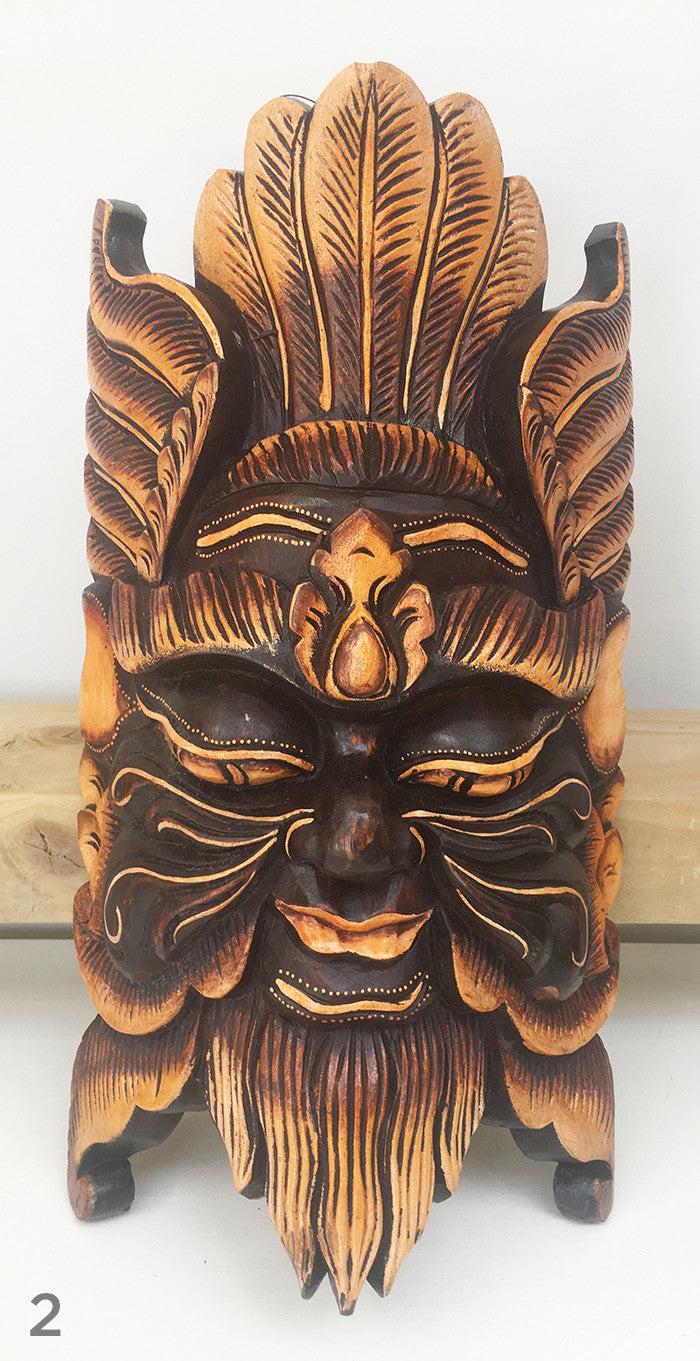 Wooden Balinese Mythical Mask