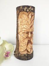 Hand Carved Green Man