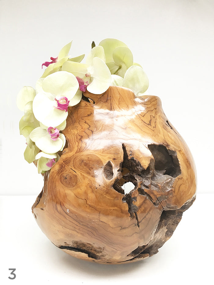 Teak Root Ball Bowl (30cm)