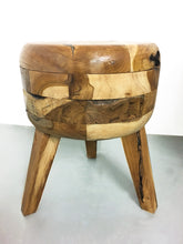 Solid Teak Table and 4 Stools