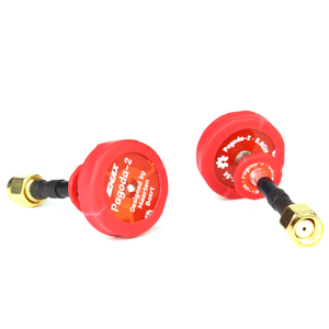 EMAX PAGODA 2 FPV ANTENNA 50mm RHCP Red OMIDIRECTIONAL - SMA - 2 PCS