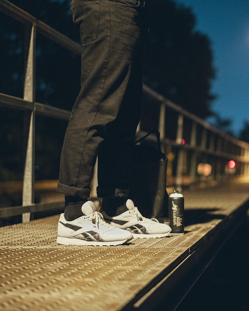 e77a876919b99 Reebok Classic Leather x Montana Cans CN1996 WHITE BLACK Price  £89.00.  Launch  Saturday 18th November 00 01GMT