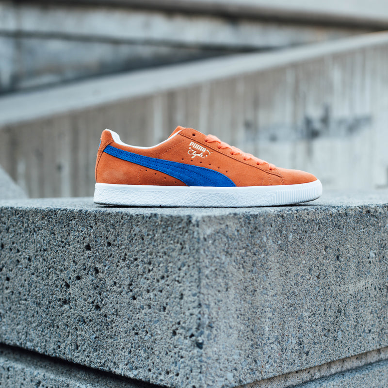 Puma Clyde Knicks Orange Suede |
