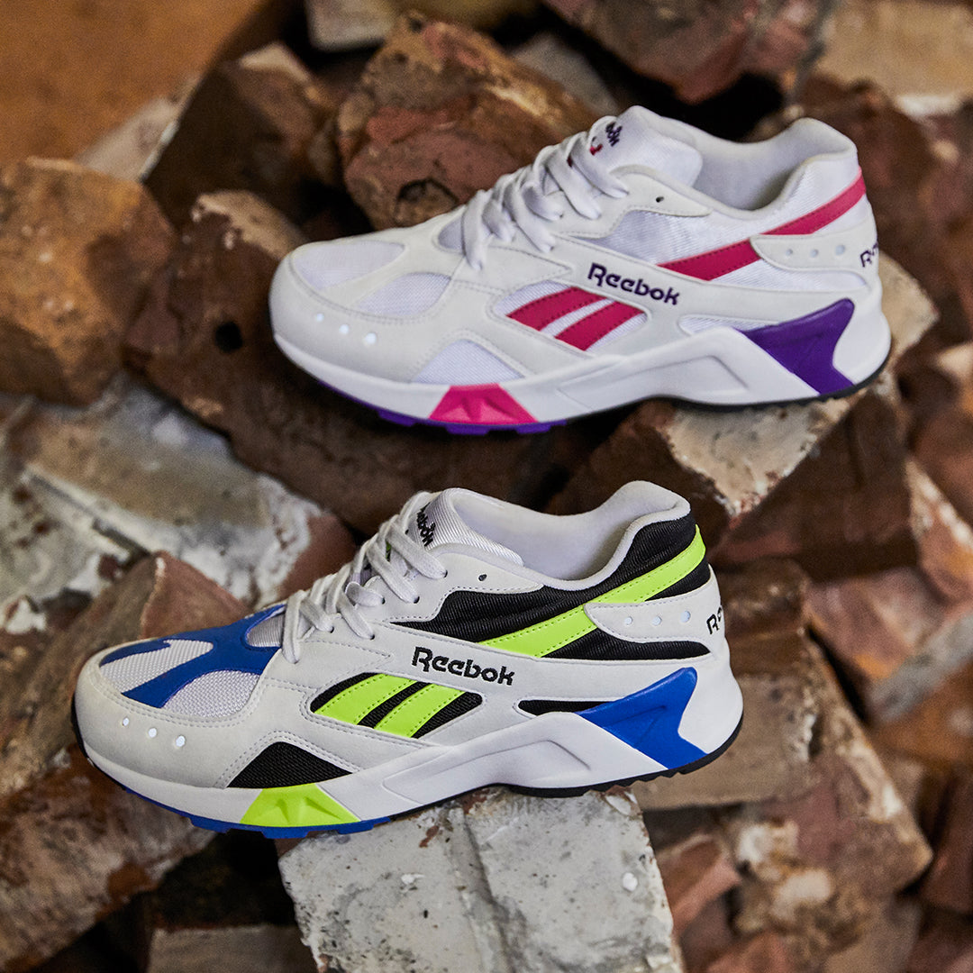 eb81adf4b Originally sketched out by 90's shoe design wizard Christian Tressor the  Reebok Aztrek spearheads Reebok Classics 90's revival.