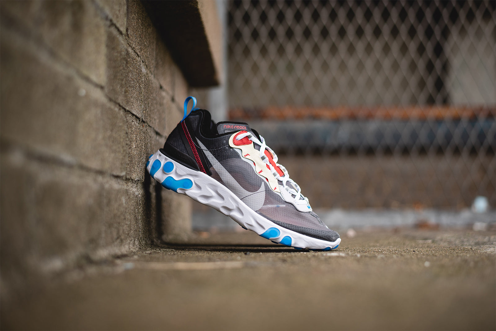 af6259d07cbb5 Nike React Element 87. AQ1090-003. Dark Grey Pure Platinum-Photo Blue  Price  £135.00. Launch  Thursday 16th of August ONLINE  08 00BST
