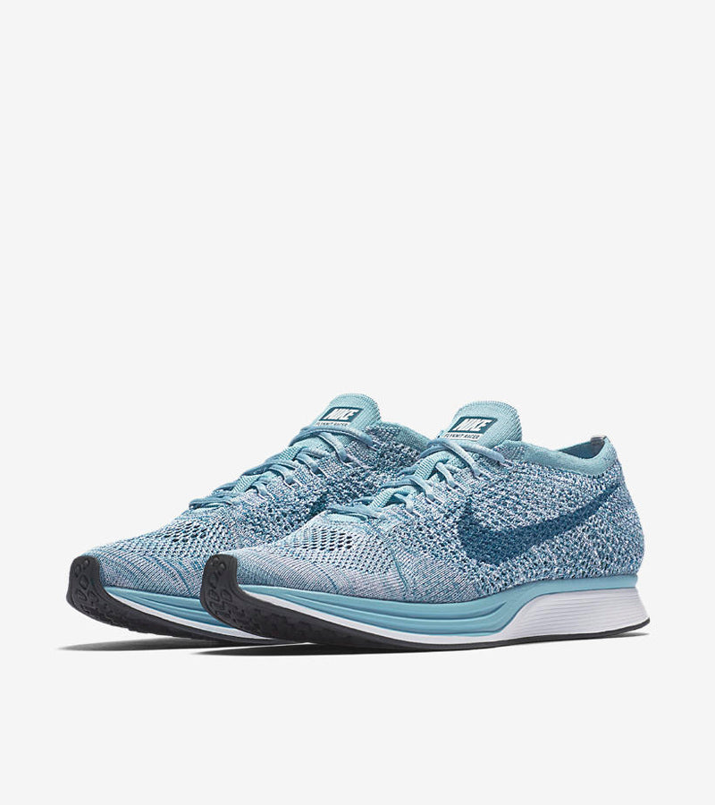 new product 7572c d6bd7 The Flyknit Racer goes brighter than ever in this pistachio macaron-inspired  design for the spring and summer seasons. The Flyknit Racer s lightweight  upper ...