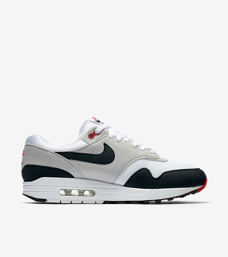 "Nike Air Max 1 Anniversary ""30 Years of Air"" 908375-104. WHITE/DARK OBSIDIAN-NEUTRAL GREY-BLACK Price: £99.00. Launch: Thursday 14th December 08:00GMT"