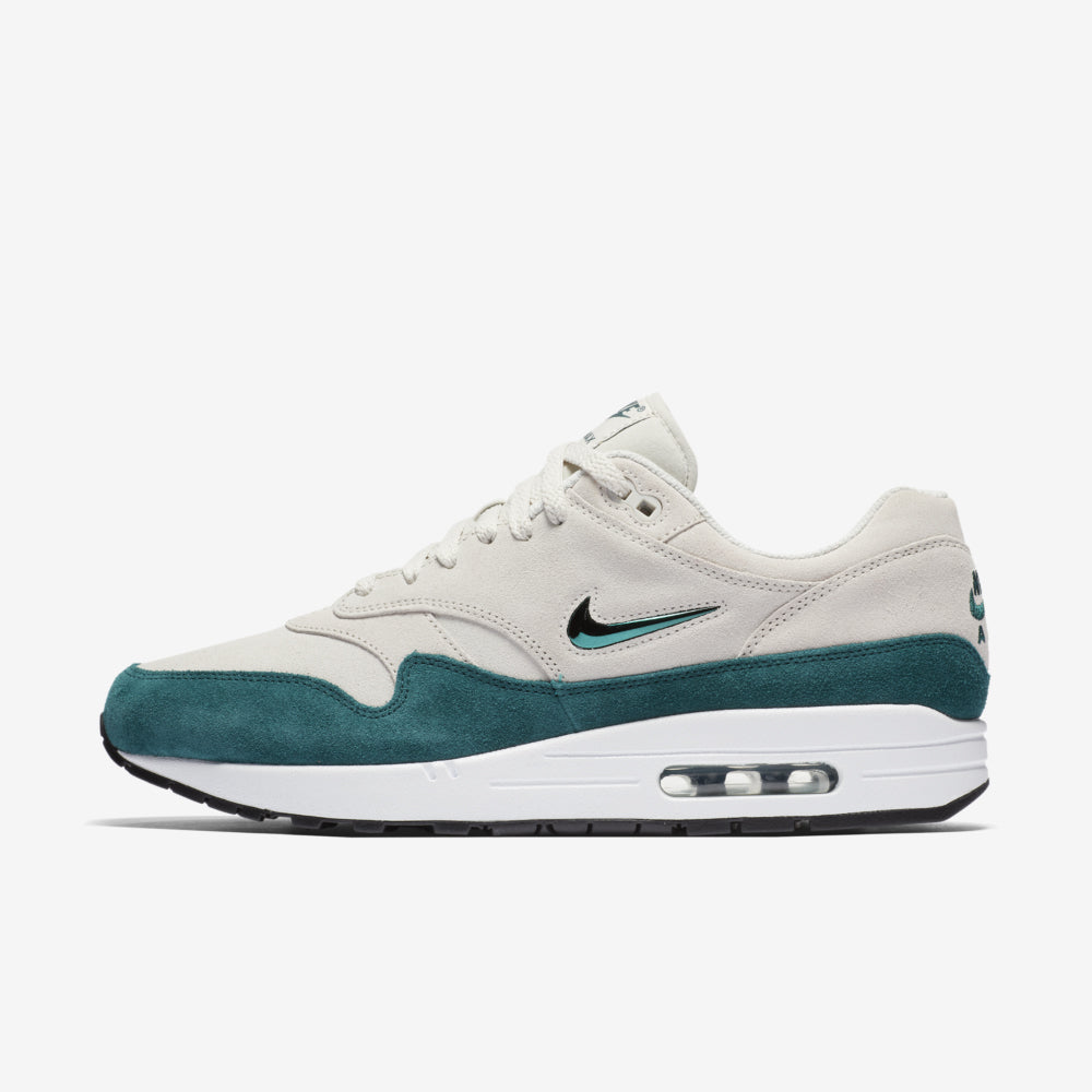 19db86da13 Nike Air Max 1 Premium SC Jewel 918354-003. LIGHT BONE/DK ATOMIC TEAL-WHITE- BLACK Launch: Saturday 21st October 08:00BST