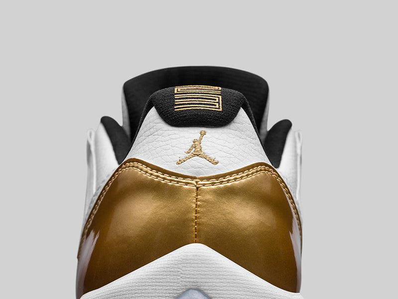 AIR-JORDAN-11-RETRO-LOW-WHITE-METALLIC-GOLD-DETAIL-2