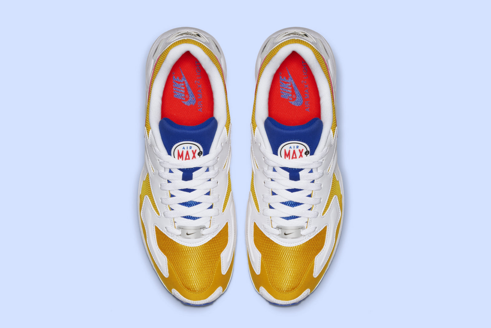 Nike Air Max2 Light AO1741-700. University Gold   Flash Crimson Price   £109.00. Launch  Friday 11th January 08 00GMT d0e70e4e2