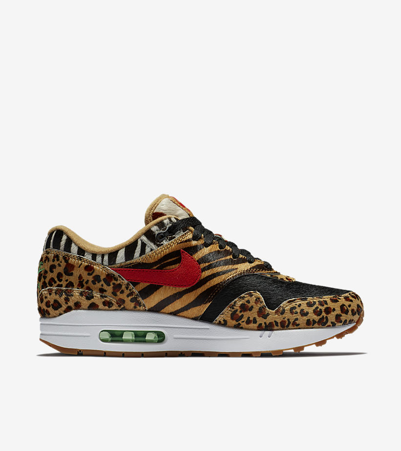 best website 86d1d 648e3 ... air max 1 x atmos animal pack c830d 6c2b1  buy rich suede materials and  dramatic black detailing bring out the wild side of the human