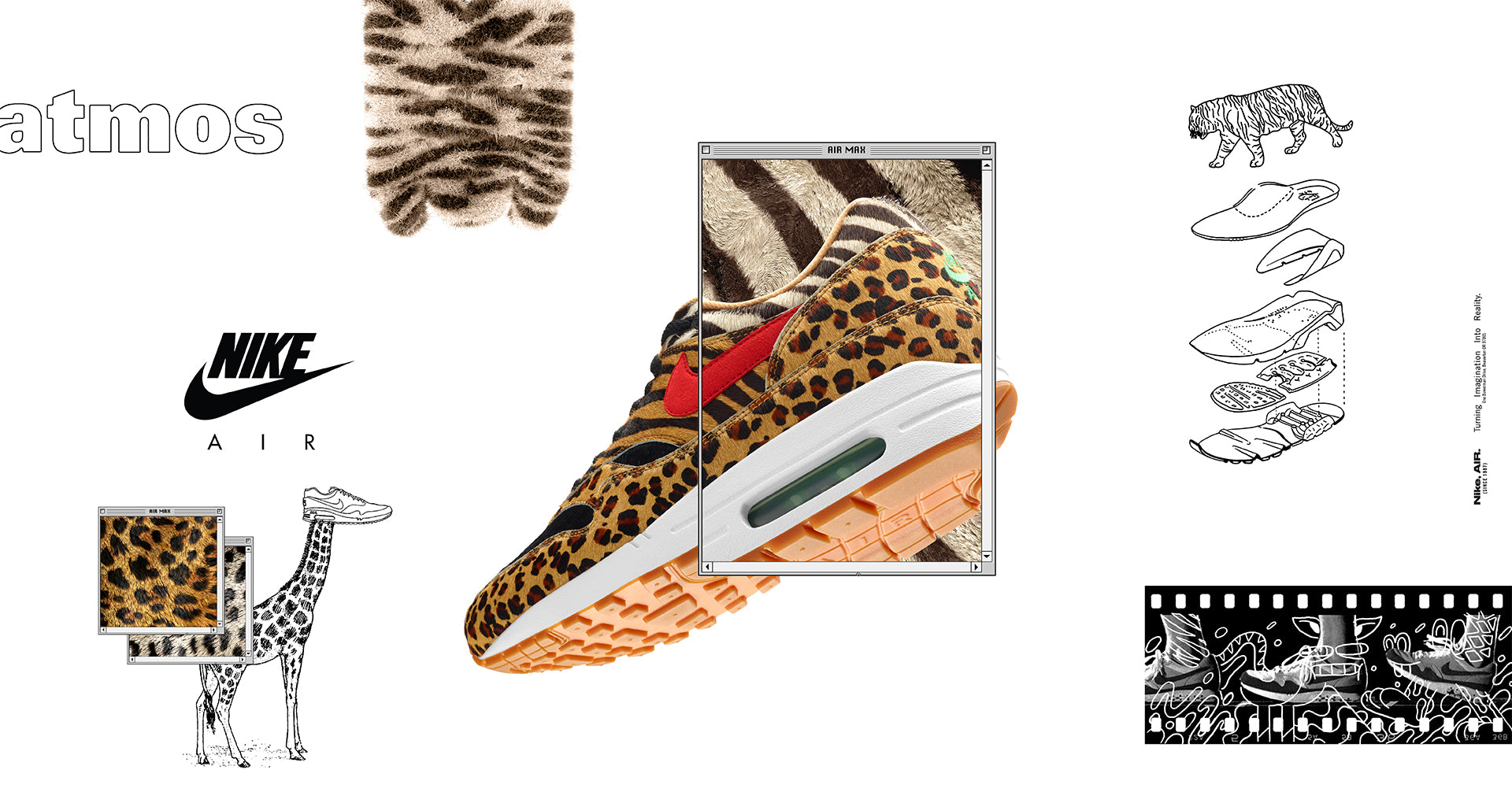 "the latest 03e0b 2c614 Nike Air Max 1 and Air Max 95 x atmos ""Beast Pack"" – Hanon"