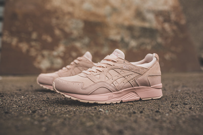A brand new colourway of the Asics Gel-Lyte V just dropped in a vanilla  cream coloured suede upper with sole unit to match. bc3889133ef71