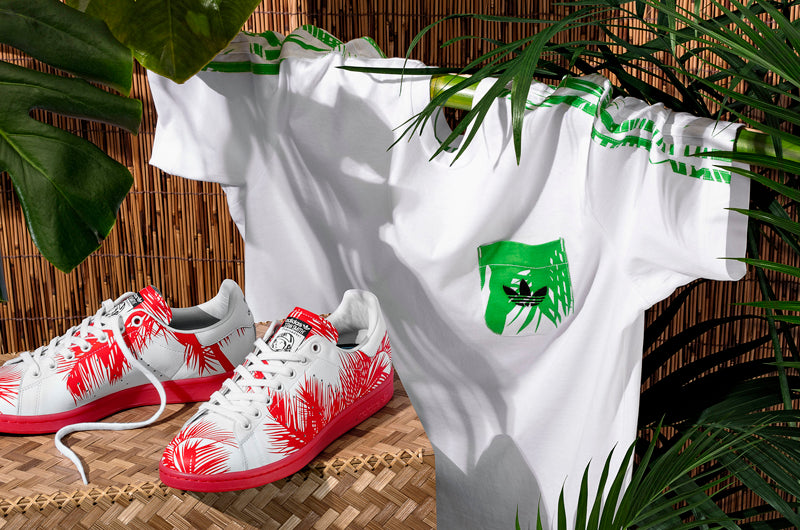 "2c3f342fdc6cf adidas Originals   PHARRELL WILLIAMS ""Billionaire Boys Club Palm Tree"" pack"
