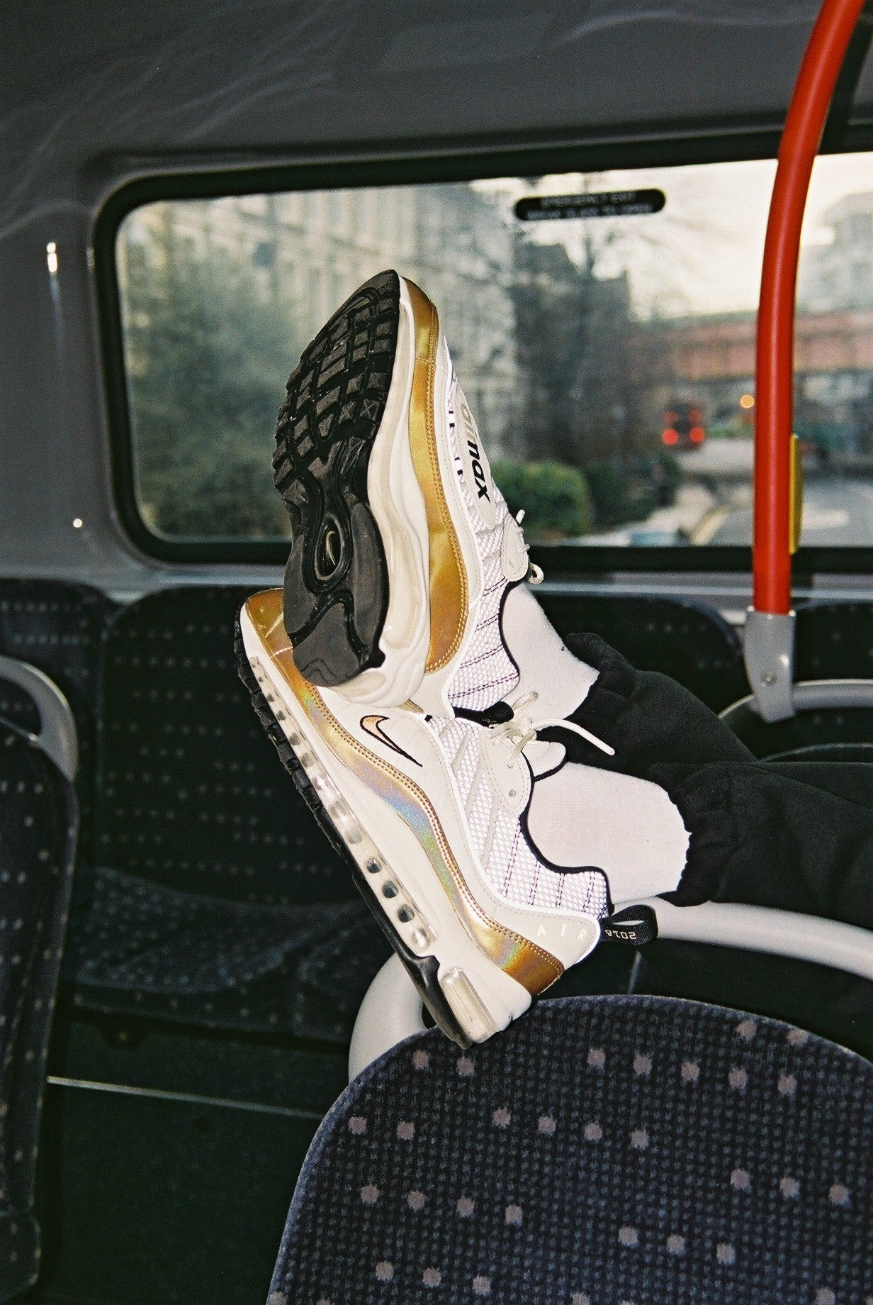 """super popular b376d 73ed9 Nike Air Max 98 """"GMT Pack"""" AJ6302-100. SUMMIT WHITEMETALLIC GOLD-BLACK  Price £149.00. Launch Friday 16th February ONLINE 0800GMT and IN-STORE  1000GMT"""