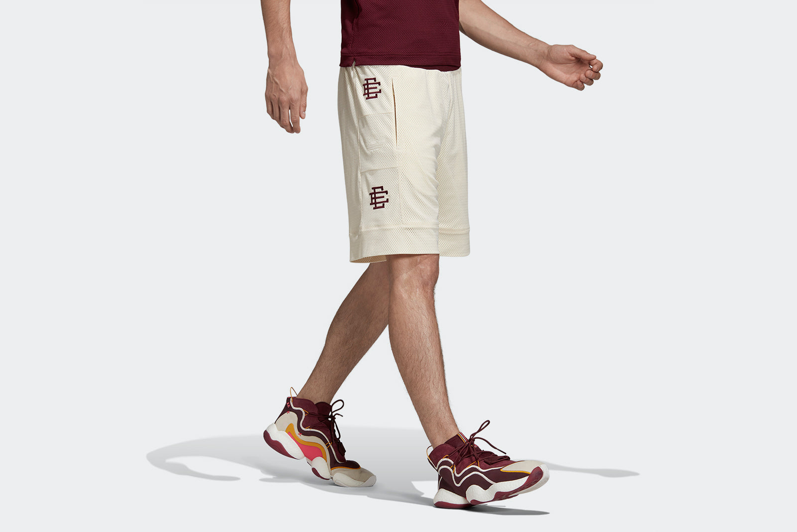 the best attitude 268b7 4c478 adidas Originals Heavy Shorts x Eric Emanuel DP2213 WhiteMaroonCraft Gold  Price £75.00. Launch Friday 6th of December ONLINE 2300GMT