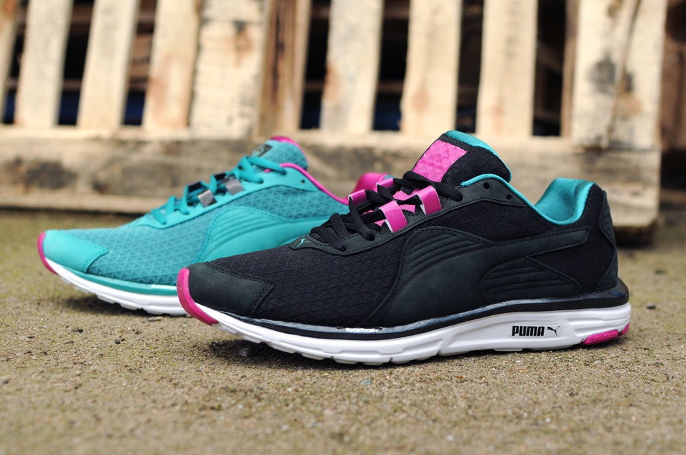 "551033122f2 The Puma ""Bubble Gum"" pack features two  90s inspired editions of the FAAS  500 with a colour scheme of vibrant Teal"