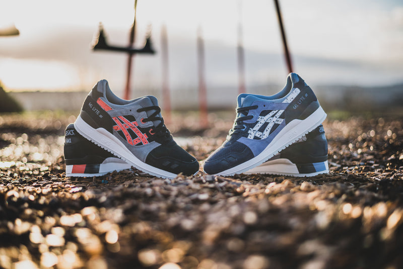 """1c876b09410f Asics continue their release onslaught with this pair of Gel-Lyte III s  dubbed the """"Granite"""" Pack. With Hanon being based in Aberdeen"""