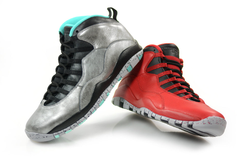 """d50a75e83e2dab The Air Jordan 10 Retro """"30th Anniversary"""" pack will launch on Saturday the  14th of February. Dubbed the """"Lady Liberty"""" and the """"Bulls Over Broadway""""  the ..."""