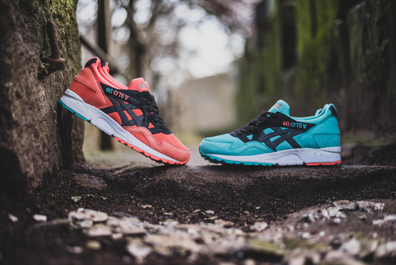 "release date 9d6c1 8e78a Asics Gel-Lyte III and V ""Miami"" Pack – Hanon"