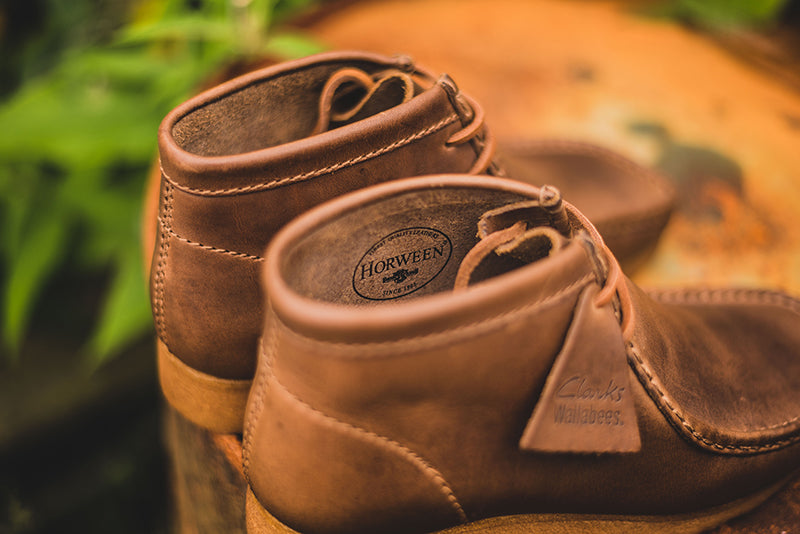 "bandeja margen Centelleo  Clarks Wallabee Boot and Desert Boot ""Horween""– HANON"