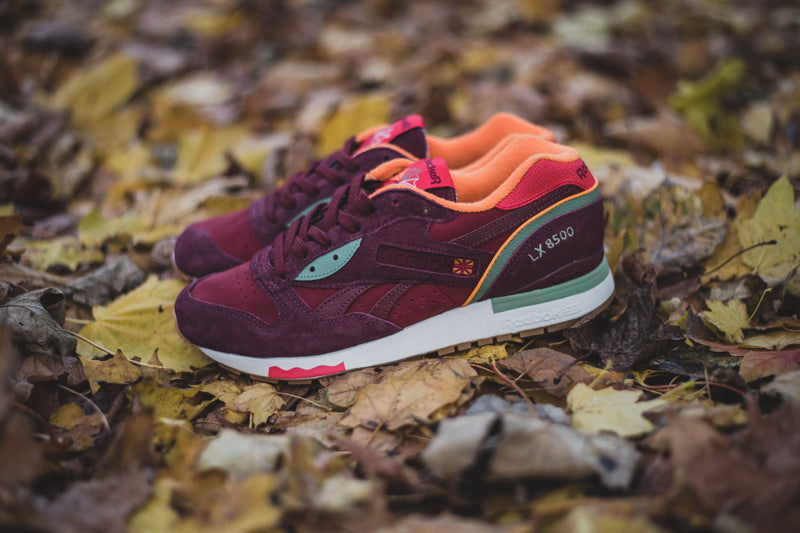a2c1640dc6c Packer Shoes x Reebok LX 8500. M47405 PACKER-RUGGED MAROON MULBERRY  RED RED GREEN Launch  13th November