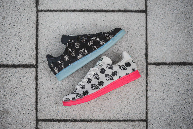 """153956f92f57 Ten years ago Pharrell Williams launched footwear label """"Ice Cream"""". The  main hook was a repeat pattern of diamonds and dollar signs and was picked  up ..."""