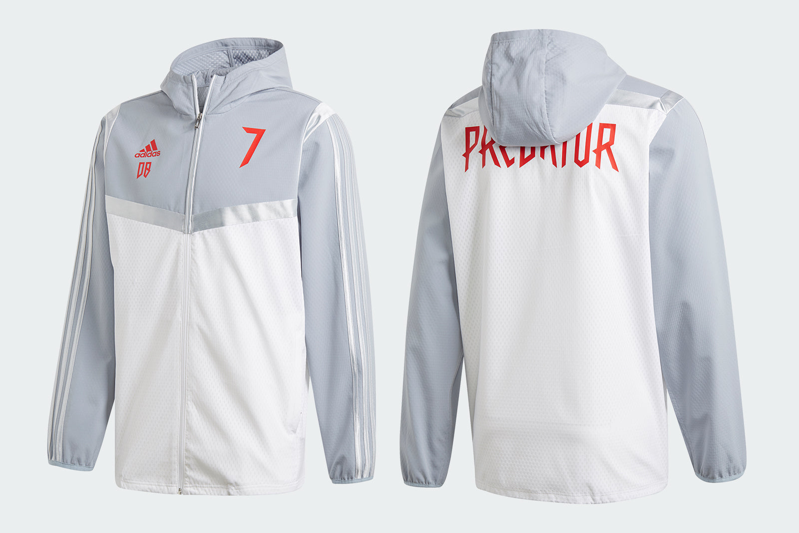 c21c8d22887 adidas Predator DB HB Jacket DZ7310 Clear White Grey Price  £89.00. Launch   Thursday 7th of March