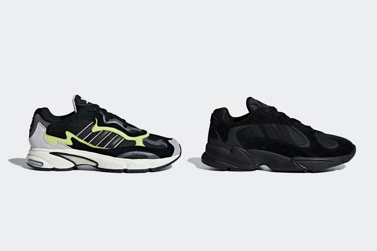 quality design a9998 feec9 adidas kick off October with two big nods to vintage running styles from  the 90s. First up is the Yung 1, Fresh from starring in the adidas x  Dragonball Z ...