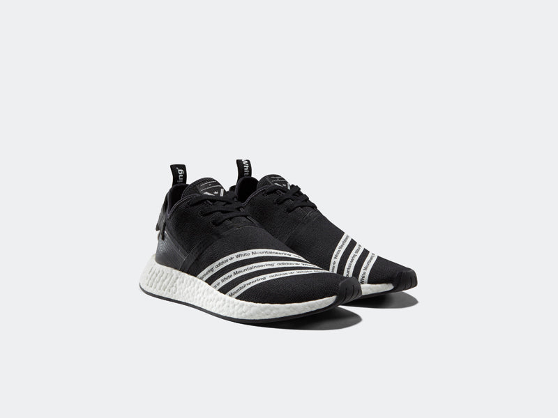 85379a39fbbb0 Adidas NMD R2 Primeknit x White Mountaineering BB2978 CORE BLACK FTWR WHITE FTWR  WHITE Launch  Thursday 2nd March 00 01GMT