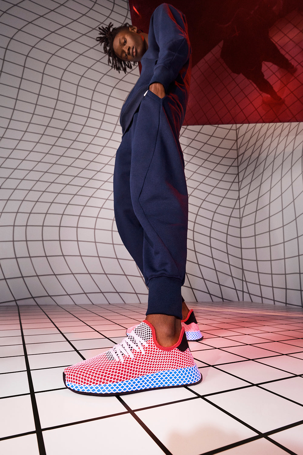 935aff6a0f7f4 adidas Deerupt Runner CQ2624 SOLRED SOLRED BLUBIR Price  £85.00. Launch   Thursday 22nd March  ONLINE 00 001GMT and IN-STORE 11 00GMT