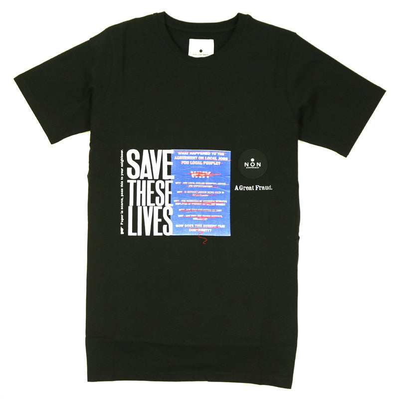NONSS1607~nonss16-07-non-conformist-save-the-lives-patch-tee_P1