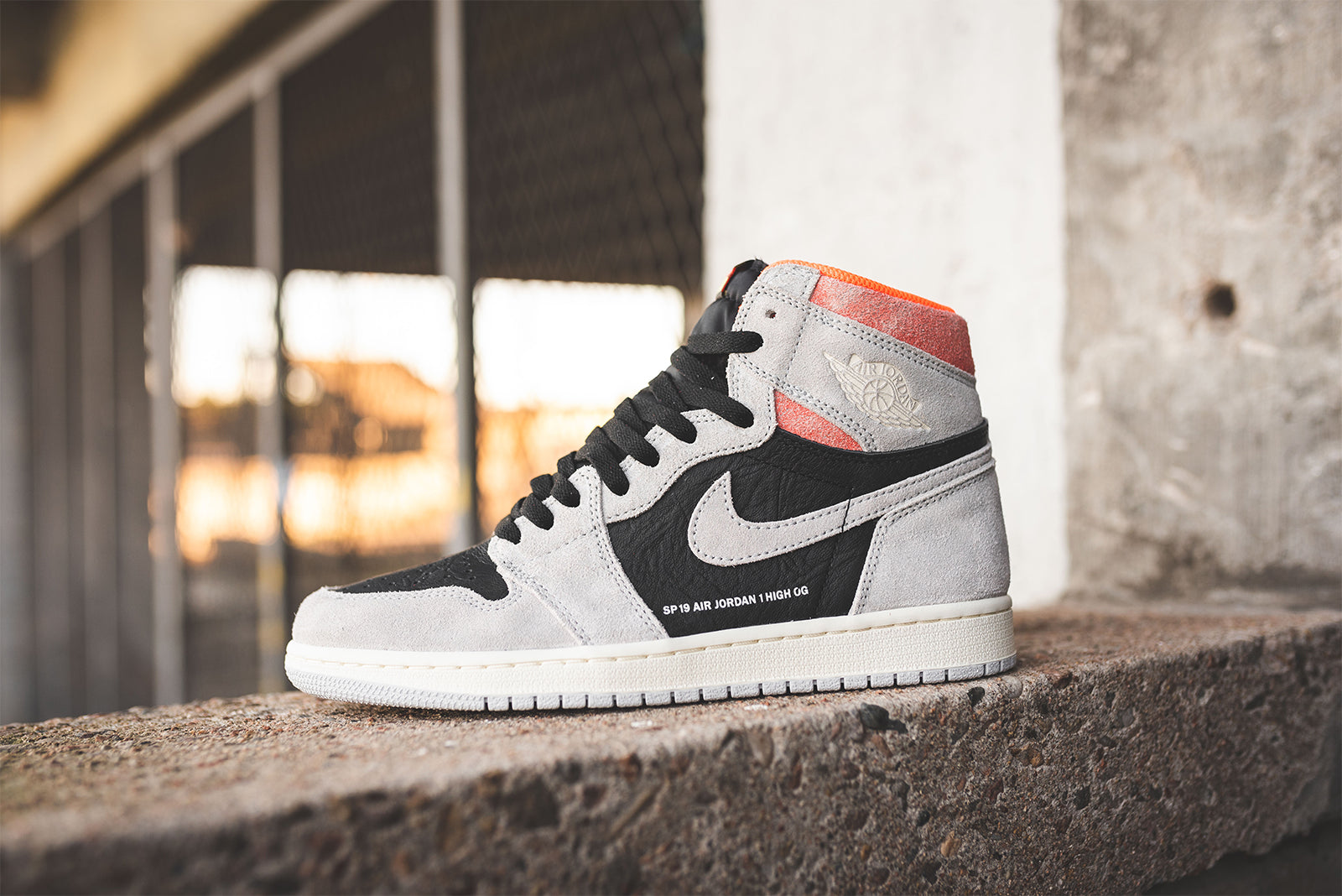3279d36b54fdc5 Nike Air Jordan 1 Retro High OG 555088-018. Neutral Grey Black-Hyper Crimson -White Price  £129.00