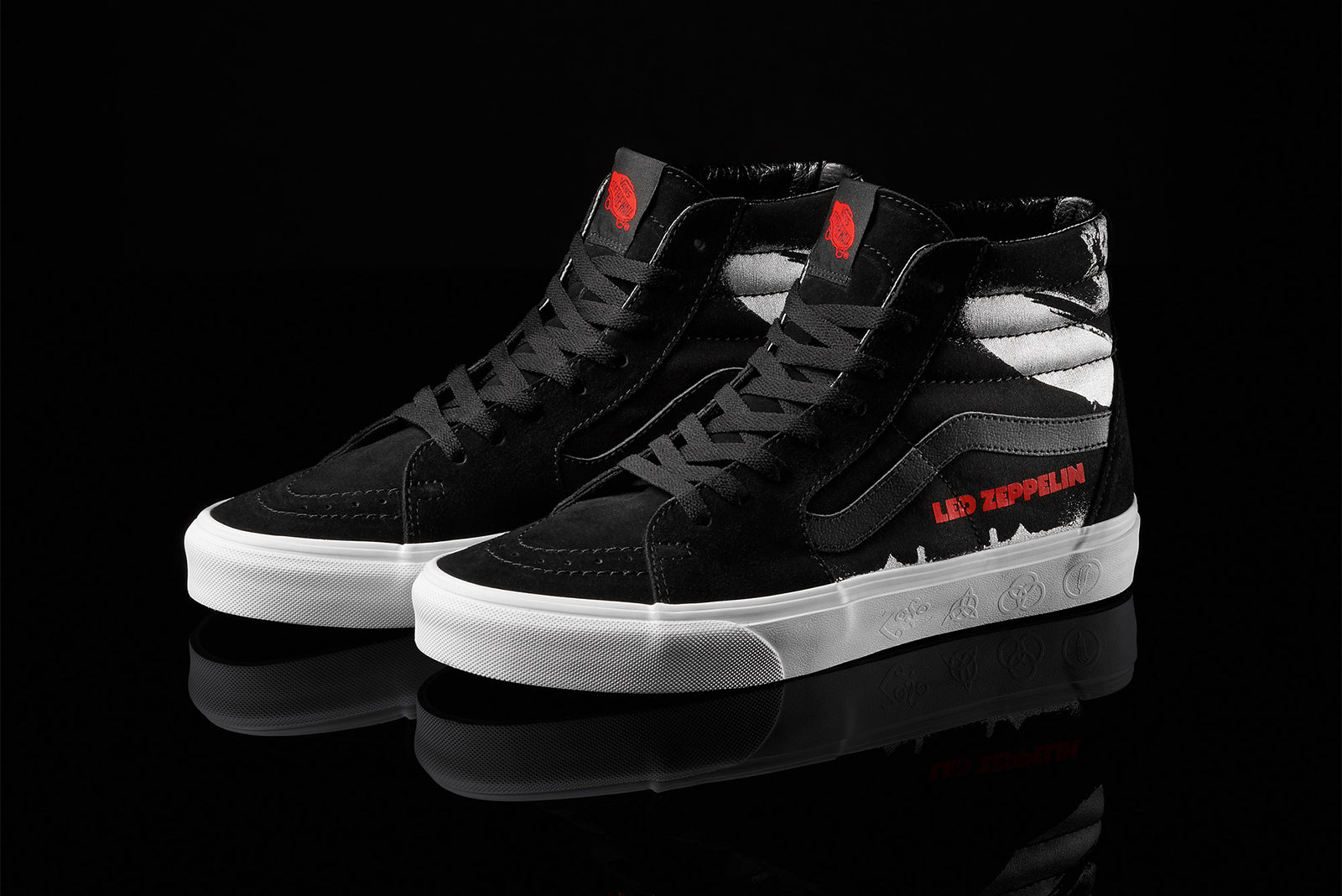 0078da8489466c Vans SK8-Hi x Led Zepplin VN0A38GET5Z Black True White Price  £79.00.  Launch  February 22nd