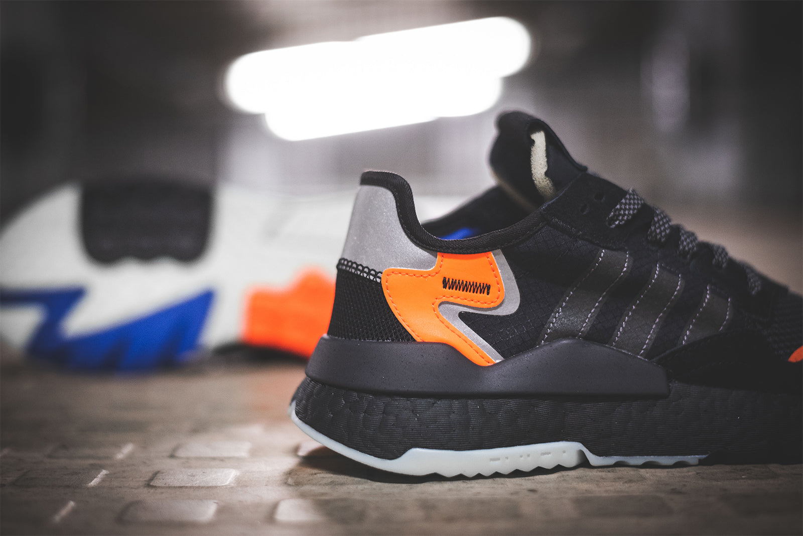 new arrival 416e5 078aa adidas Nite Jogger CG7088 Core BlackCarbonActive Blue Price £119.00.  Launch January 12th