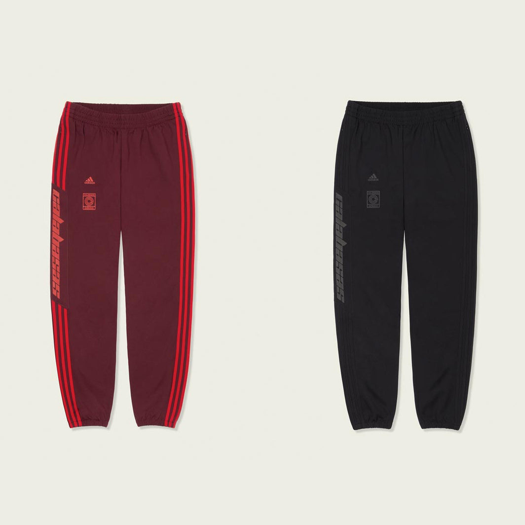3f2346bb93f29 KANYE WEST and adidas announce the release of the YEEZY CALABASAS track pant  which will be available in two colour options  maroon cheer scarlet and ...