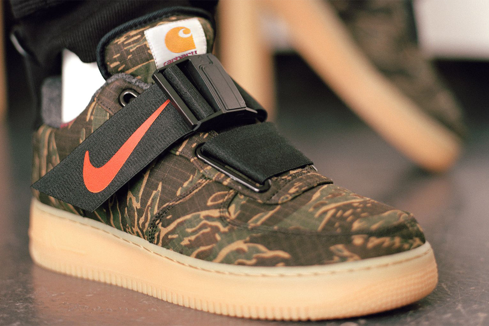 Nike Air Force 1 Utility x Carhartt WIP AV4112-300. Camo Green Total  Orange-Gum Light Brown Price  £139.00. Launch  December 6th 85517b24c