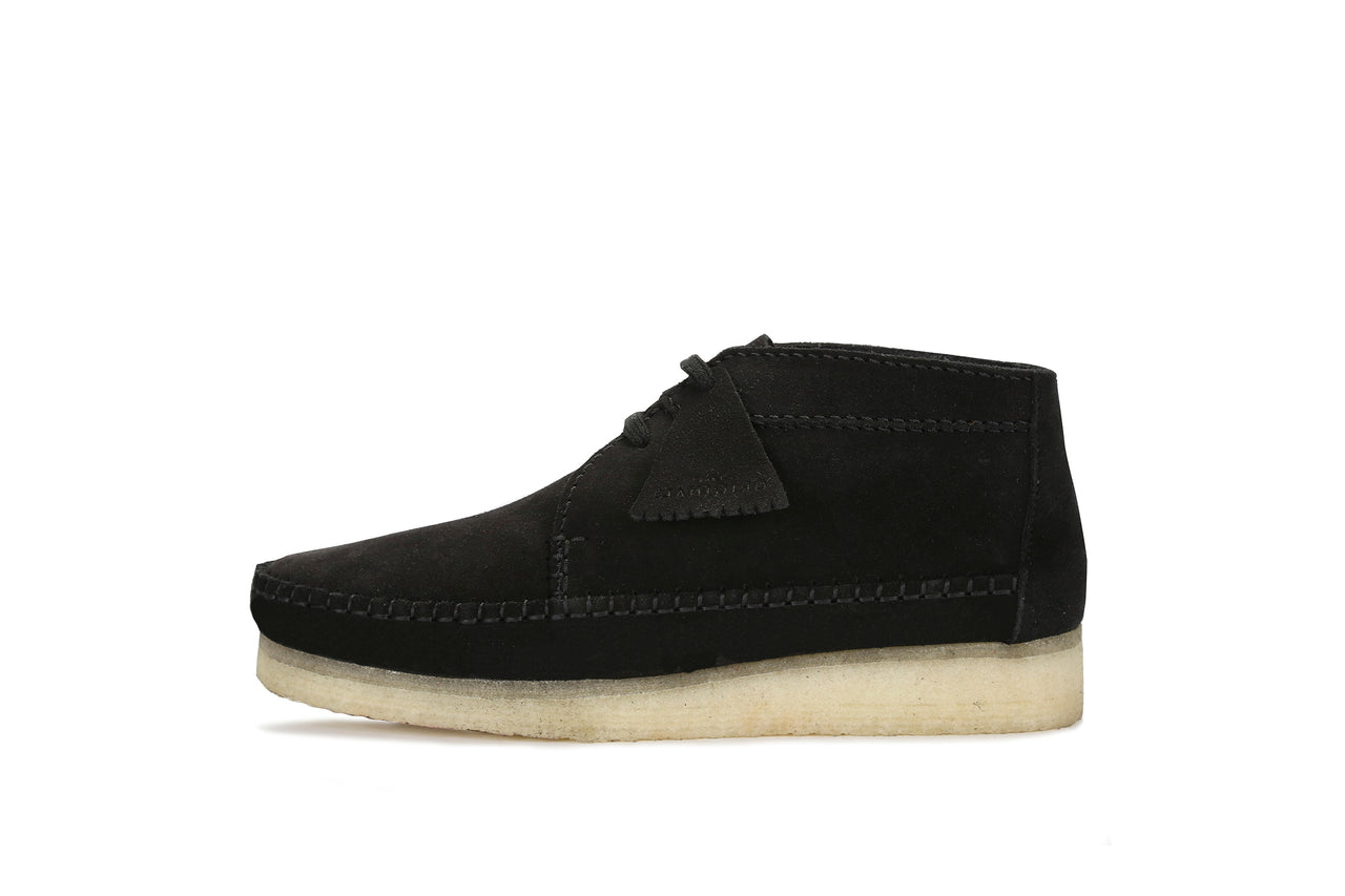 "Clarks Weaver Boot ""Black Suede"""