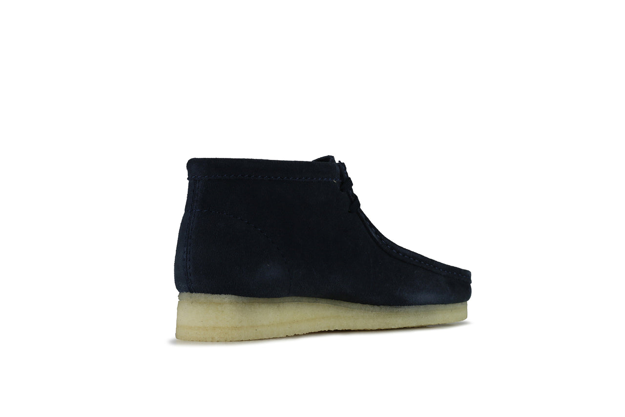 "Clarks Wallabee Boot ""Dark Blue Suede"""