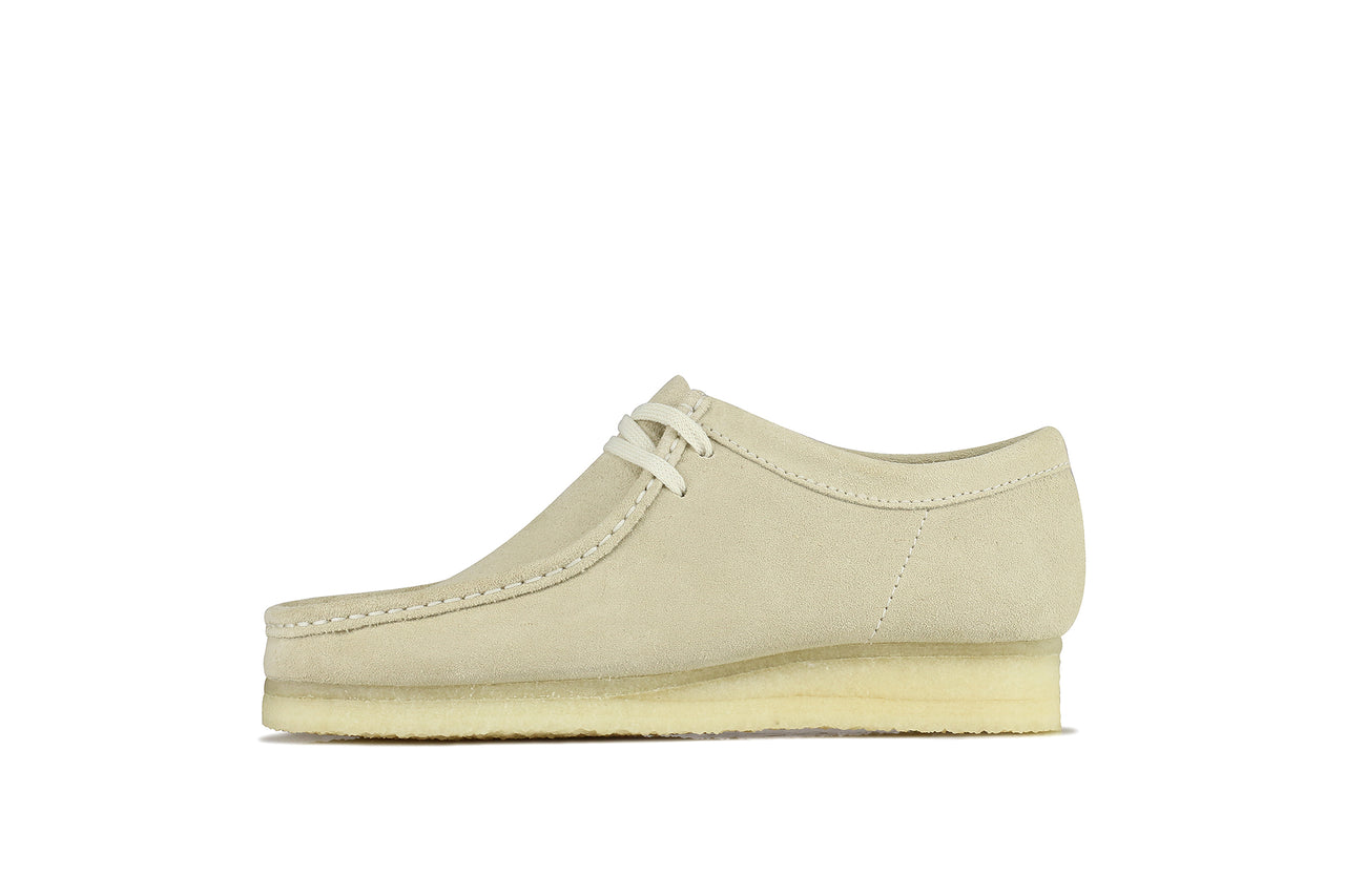 "Clarks Wallabee ""Off White Suede"""